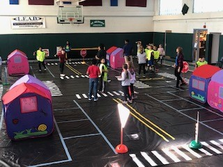 Traffic Safety Town at Maps - 4th Grade